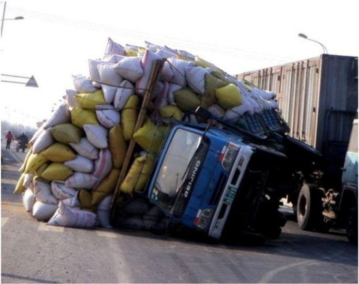 Truck decided to take a nap
