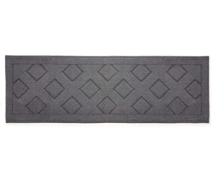 Living Colors Gray Diamond Accent Runner 1 8 X 5 At Big Lots Grey Diamond Accent Rugs Rug Size