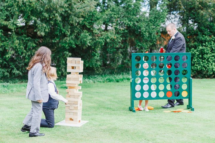 lawn game at wedding reception #wedding #lawngames #jenga