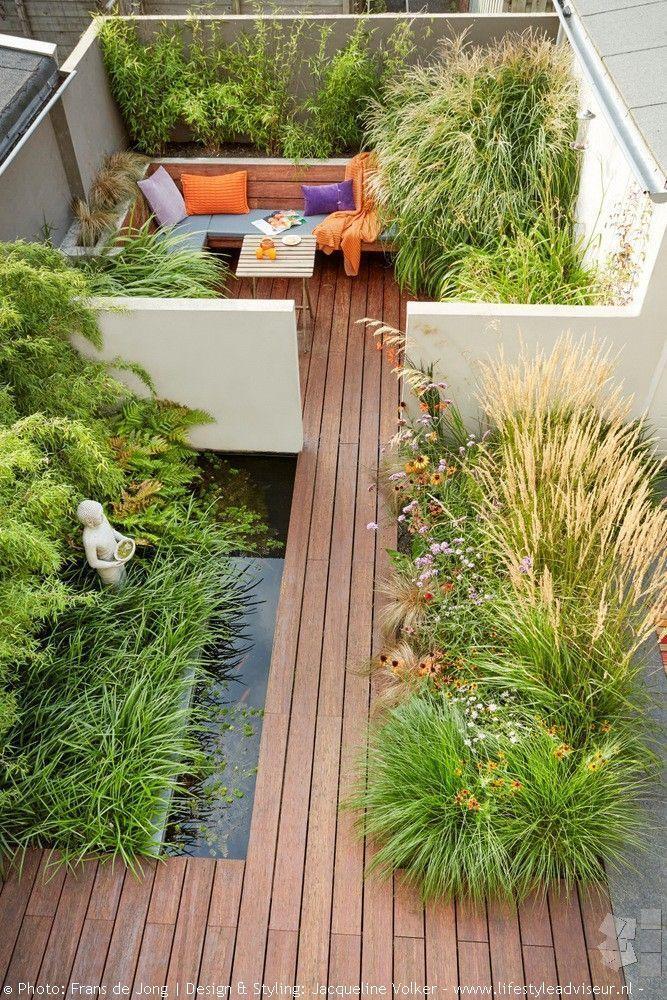 Small Walled City Garden With Pond Design Jacqueline Volker Www In 2020 Stadtgarten Haus Und Garten Gartengestaltung