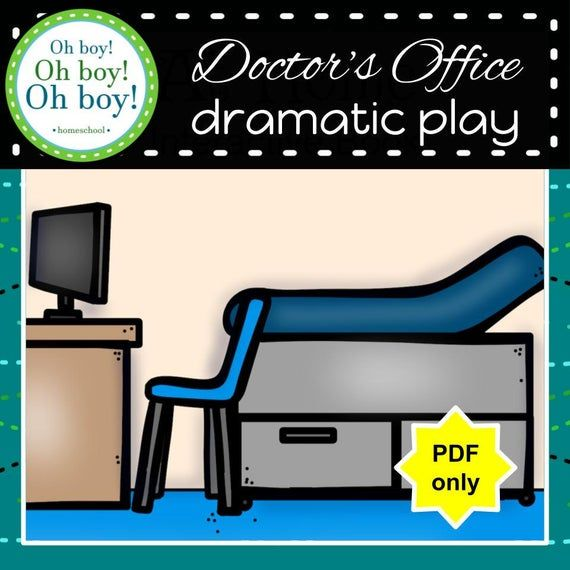 Preschool Doctor's Office Dramatic Play Printables, Homeschool Doctor's Office Pretend Play, Make Be #doctoroffice
