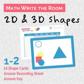 2D and 3D Shapes Write the Room | 3d shapes, Recording sheets and ...