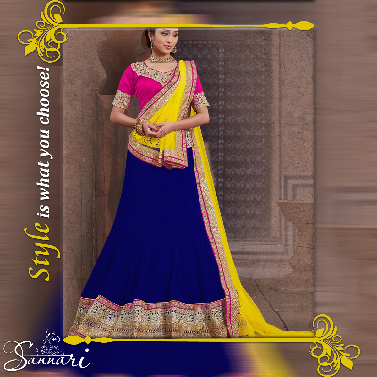 #Style is what you choose.  And sannarinx.com is an assurance that whatever you choose here, shall be stylish in every possible way!  -- For any #order or Queries be in touch with us on: +919586099777 (Call or #whatsapp)  Shop at www.sannarinx.com #fashiontrends #fashionindia