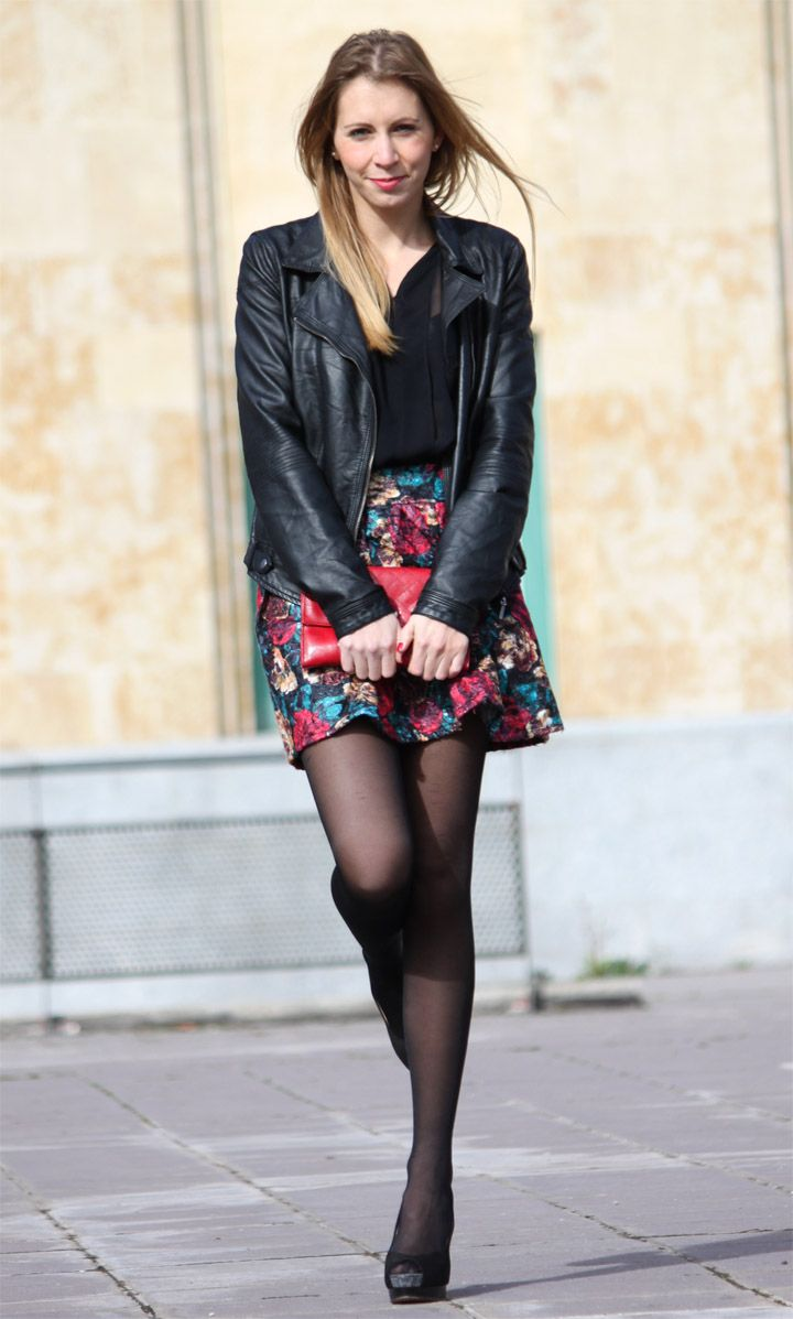 How to skater wear skirts with tights images