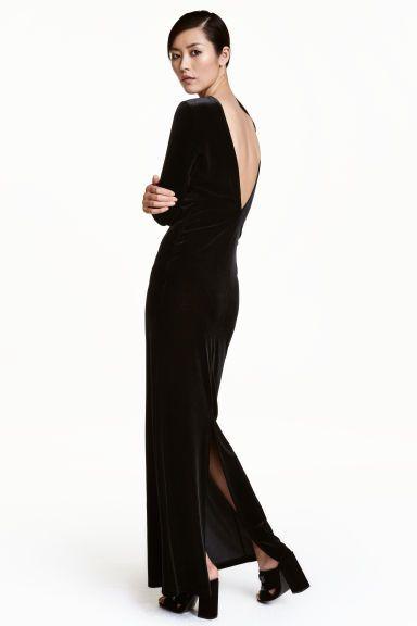 Robe longue en velours | Pinterest | Maxi dresses, Dress models and ...