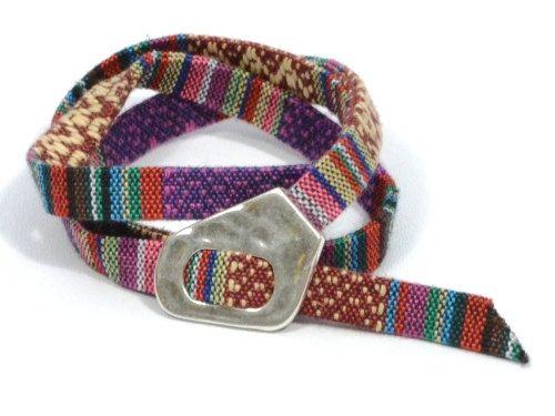 wrap burgundy ethnic bracelet * bohemian purple bracelet * boho cuff * aztec fabric bracelet * gifts for her * surfer bracelet