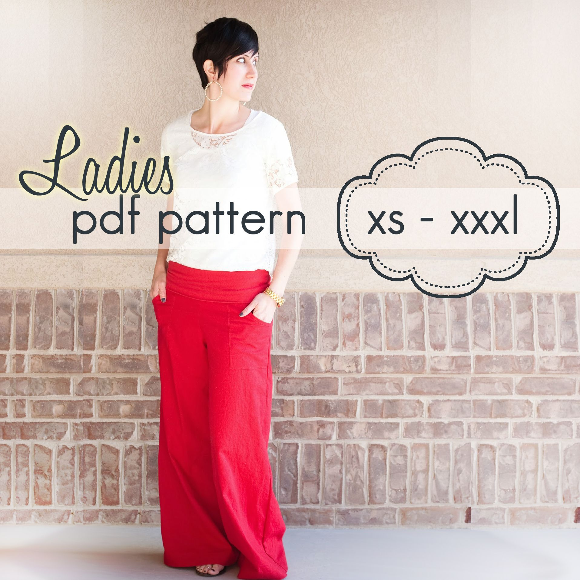 Wide Leg Pants Sewing Pattern