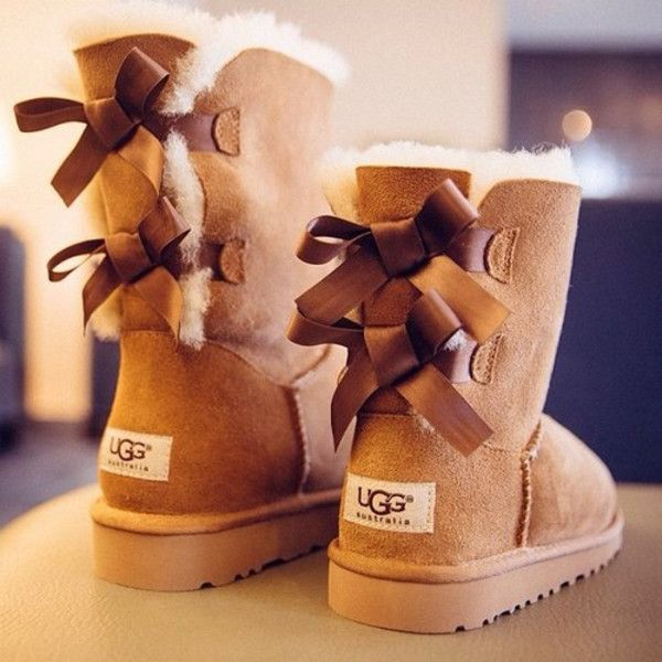 ugg bailey bow boots chestnut