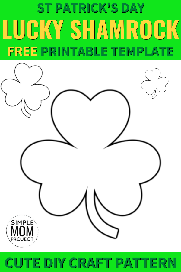 Free Printable Shamrock Templates in Small, Medium and ...