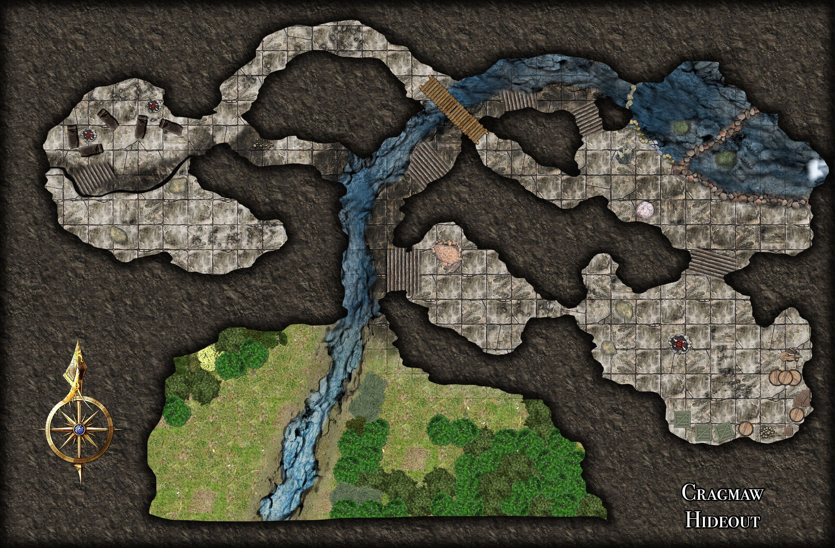 photo about Cragmaw Hideout Printable Map referred to as Pin via Kevin Daignault upon Gaming Maps - Minis inside 2019