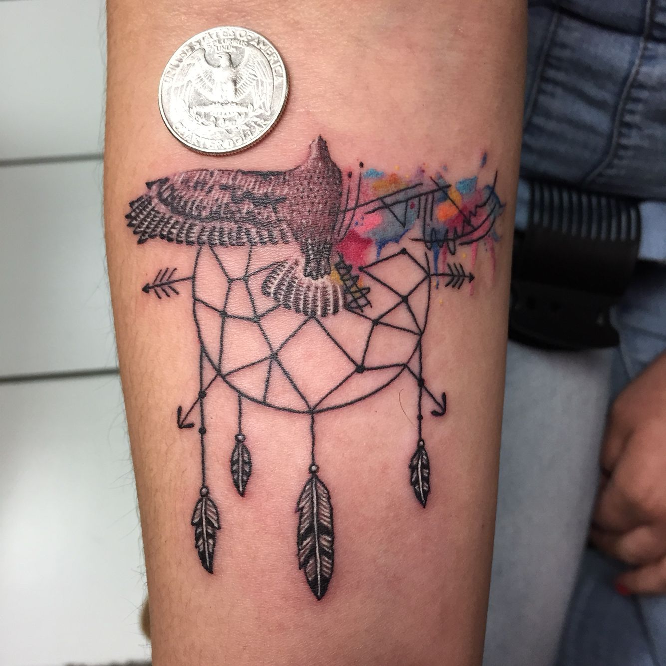 Tattoo Quotes Hawk: Bird Tattoo Watercolor Dream Catcher Hawk Eagle Fly