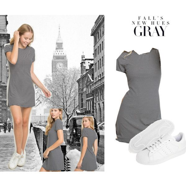 Grey by crazy-giulia on Polyvore featuring polyvore fashion style adidas Originals