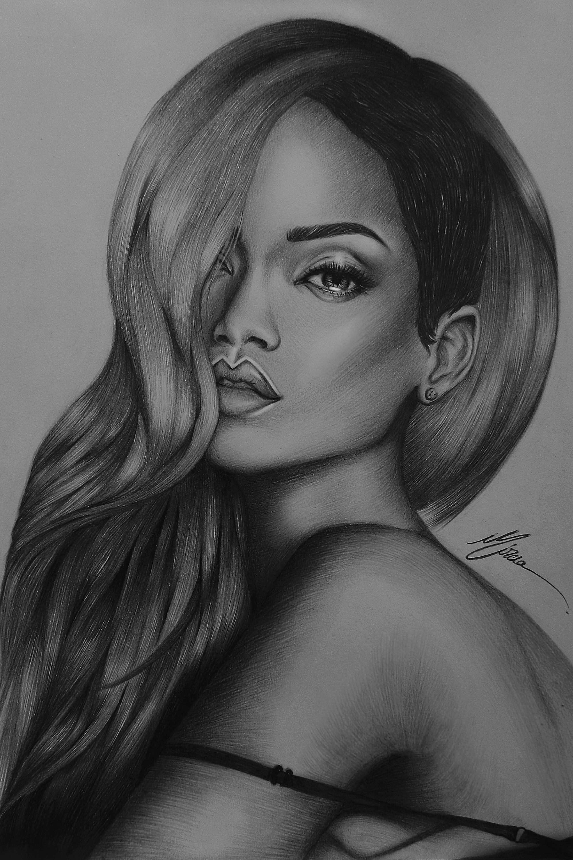 new drawing of Rihanna . D Celebrity drawings
