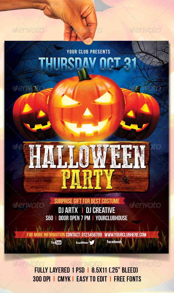 Halloween Flyer Halloween Flyers Posters Pinterest Adobe