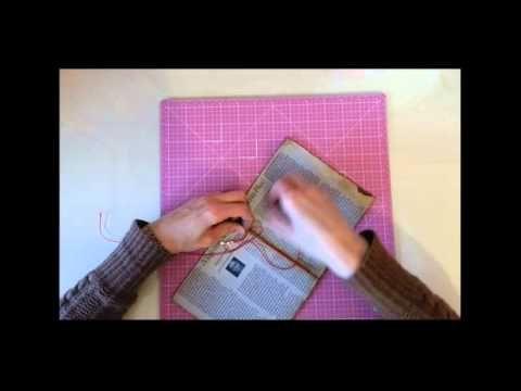 tutorial scrapbooking minialbum con muy pocos materiales - YouTube