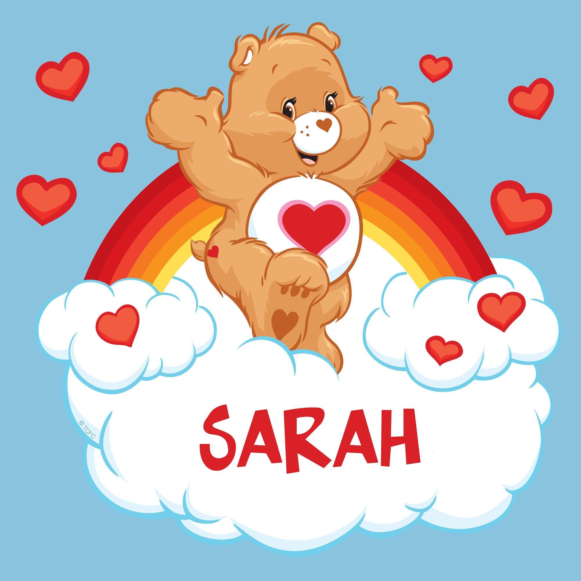 Tender Heart Care Bear Care Bears Tenderheart Bear Light Blue T Shirt Care Bear Tattoos Care Bears Bear Decal