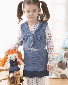 48084341bd8 Crochet Patterns Galore - Denim Skirt   Vest