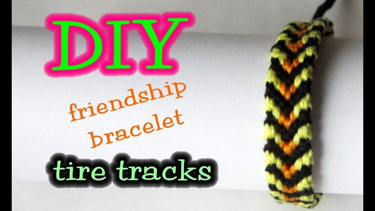 Diy friendship bracelet tire tracks tutorial strings colors