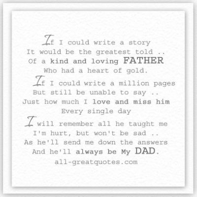 Dad Memorial Poems - Newwallpaperjdi co