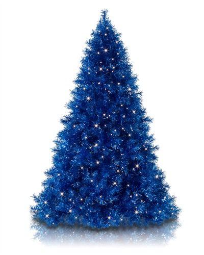 Sassy Sapphire Blue Tinsel Christmas Tree Blue Christmas Tree Blue Christmas Tree Decorations Purple Christmas Tree