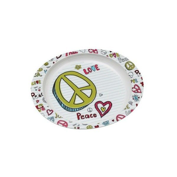 SugarBooger by O.R.E. Deep Dish Plate Peace Love (13 CAD) ❤ liked on Polyvore featuring baby, baby food and feeding