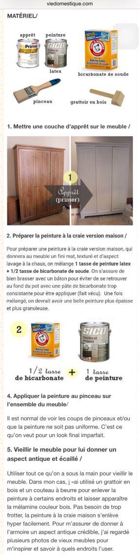 Comment faire de la peinture à la craie maison u2026 Pinteresu2026 - preparer un mur pour peindre