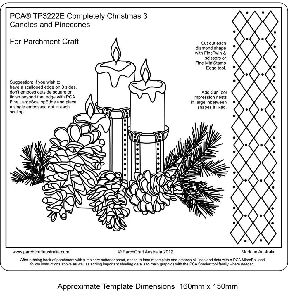 PCA Christmas Templates | Easy Embossing, Completely Christmas ...