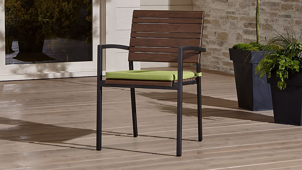 Rocha Dining Chair with Sunbrella ® Cushion | Crate and Barrel