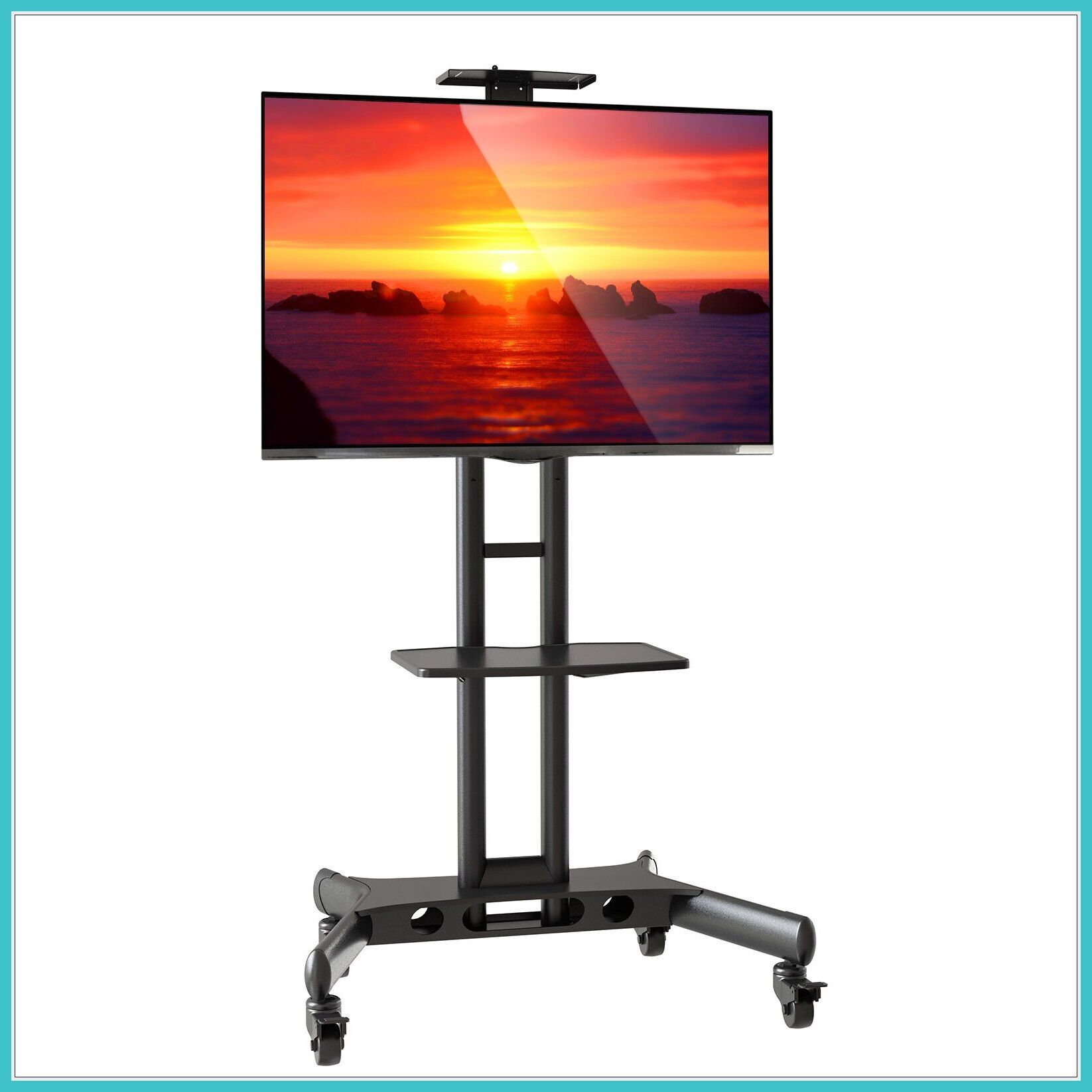 56 Reference Of Wall Mount Movable Tv Stand In 2020 Flat Screen Tv Stand Tv Stand On Wheels Rolling Tv Stand