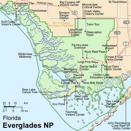 Everglades On Map