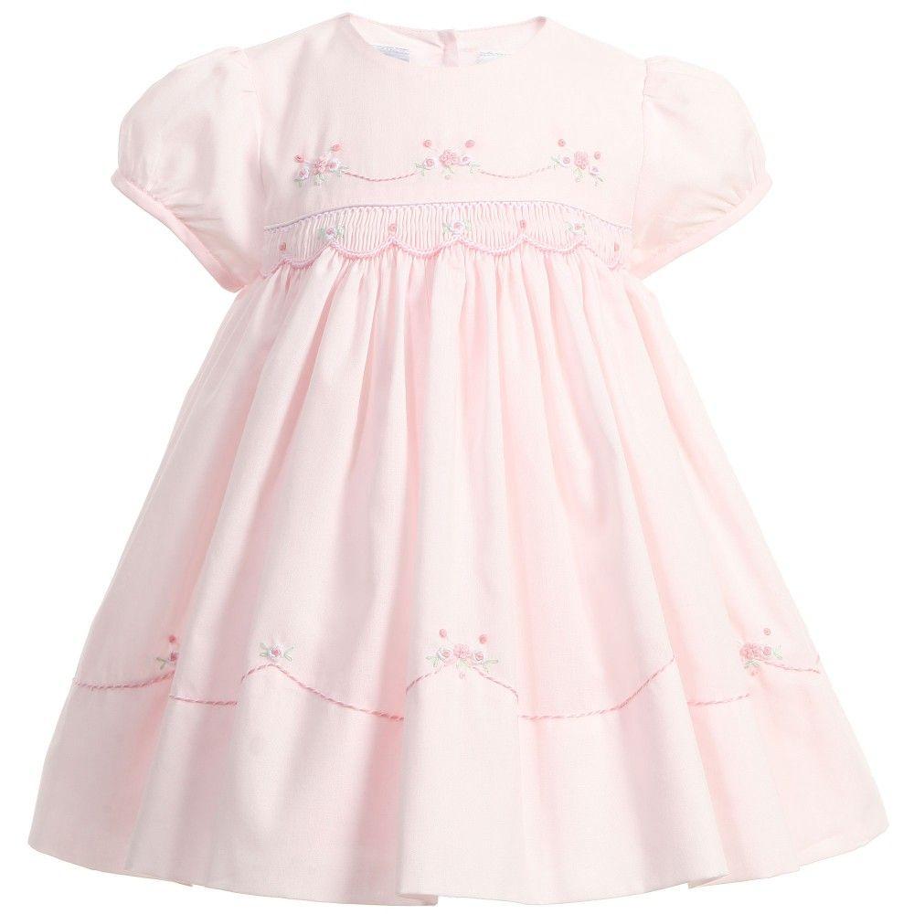 Baby Girls Pink Hand Smocked Dress Sarah Louise Girl