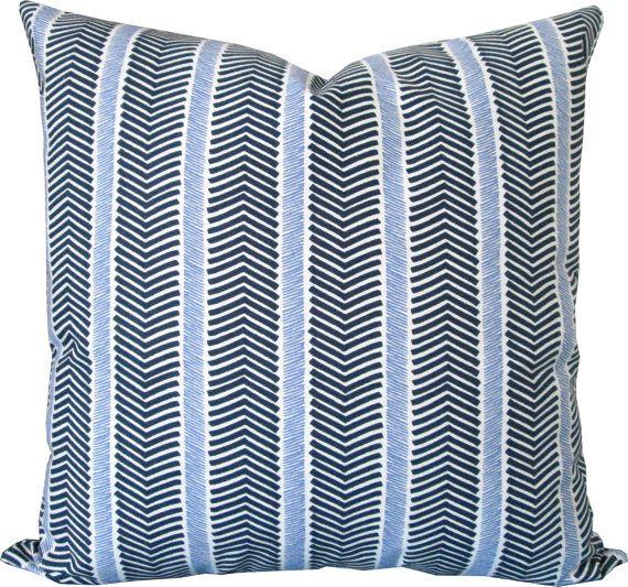 Navy Accent Pillow Covers Linen