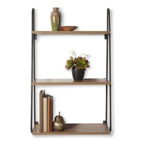 threshold™ 3 tier wood wall shelf $45 | wood wall shelf
