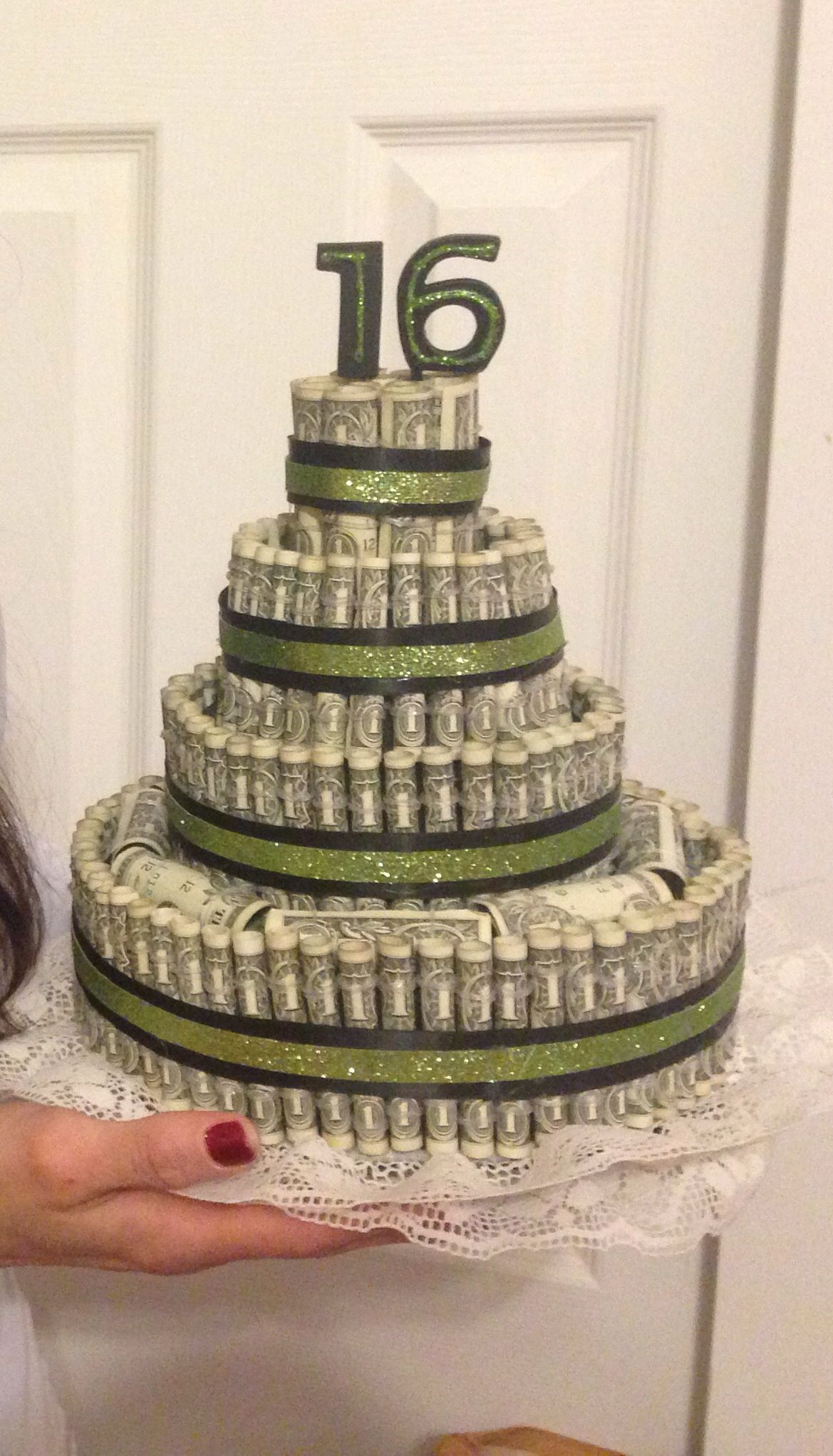 money birthday cake money cake 16th birthday present inspiration 5988