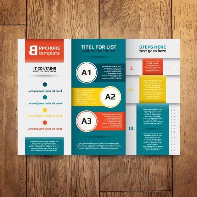 Brochure Design Template Free Vector Free Trifold Pinterest - pamphlet sample