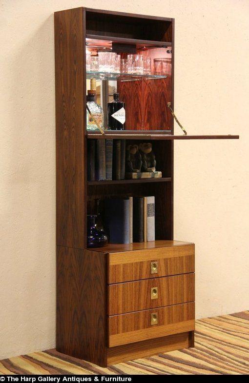 Midcentury Danish Modern Teak 1960 S Vintage Bar Cabinet