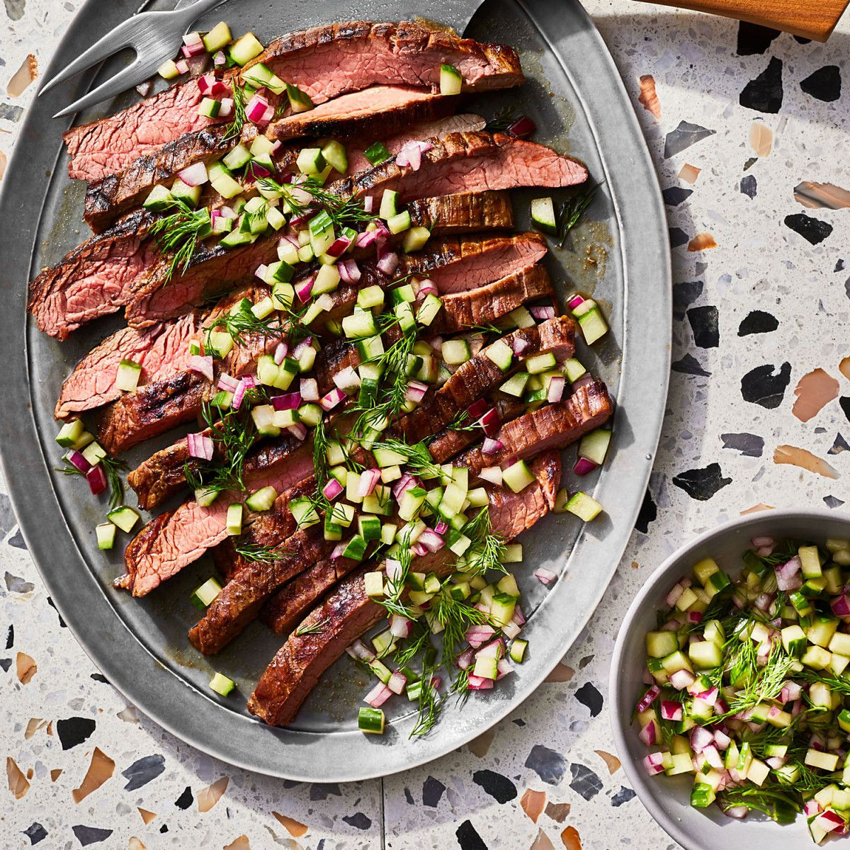 5 Ingredient Steak Cucumber Salsa Dinner Recipe Summer Grilling Recipes Easy Chicken Dinner Recipes Steak Dinner