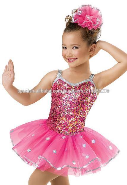 b45f56539 Confeti girls' de lentejuelas de baile vestido de disfraces para ...