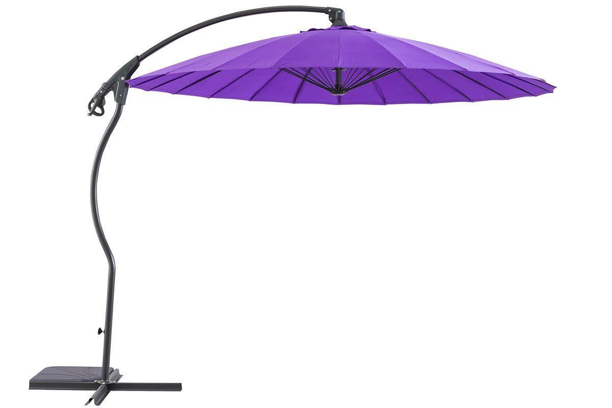 Parasol déporté Boyeros violet - HESPERIDE | Balcony ideas | Balcony