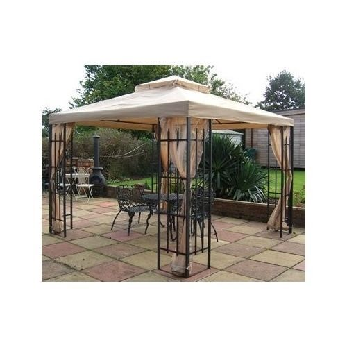 Metal Garden Gazebo Sun Shelter Canopy Shade Party Roof Tent Patio Furniture  sc 1 st  Pinterest & Metal Garden Gazebo Sun Shelter Canopy Shade Party Roof Tent Patio ...