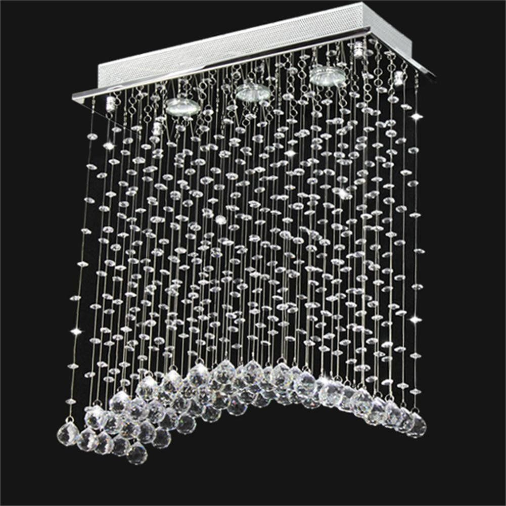 Swees modern bridge wave clear crystal lighting ceiling light swees modern bridge wave clear crystal lighting ceiling light chandelier lamp h 58 cm arubaitofo Gallery