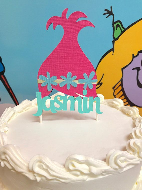 Trolls Cake Topper Poppy Customized Birthday Party Troll