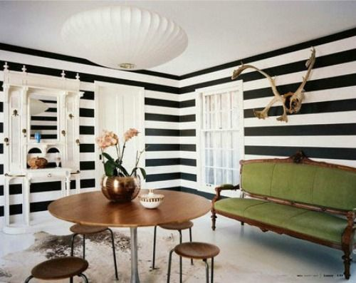 Horizontal Stripe Painted Walls Trendspotting Bold Striped Decor Home Decorating Ideas And Trends