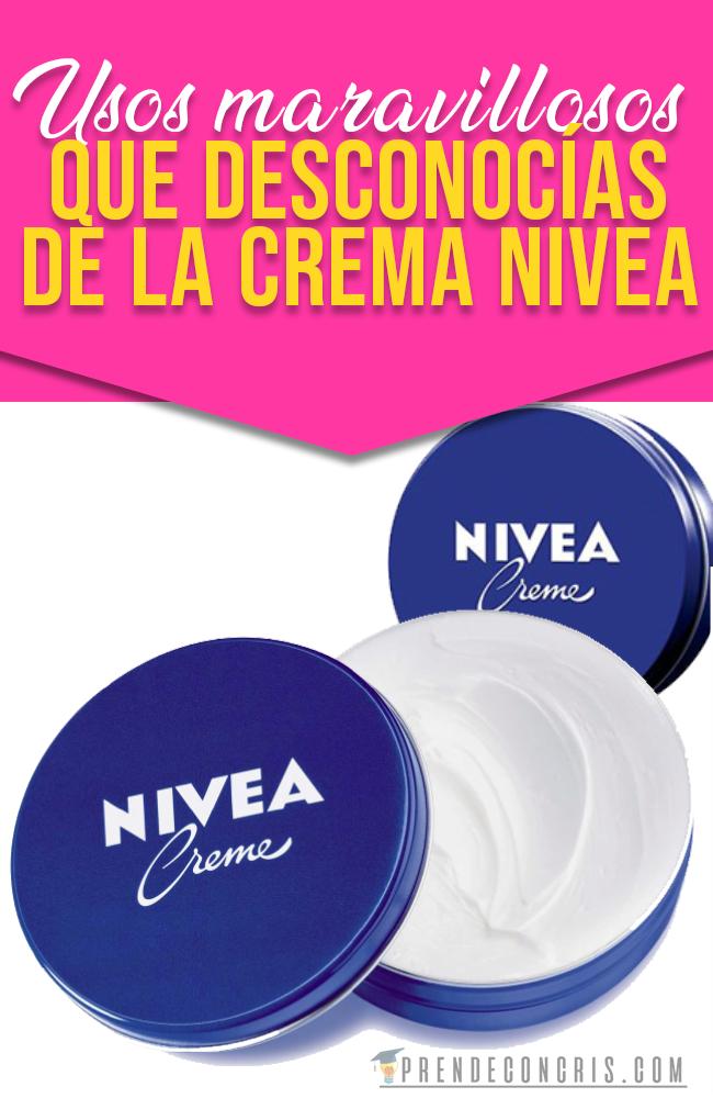 Usos Grandiosos De La Crema Nívea Cremas Salud Y Bienestar Salud