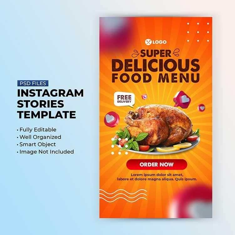 تحميل Insta Story Template مجانا Food Food Menu Yummy Food