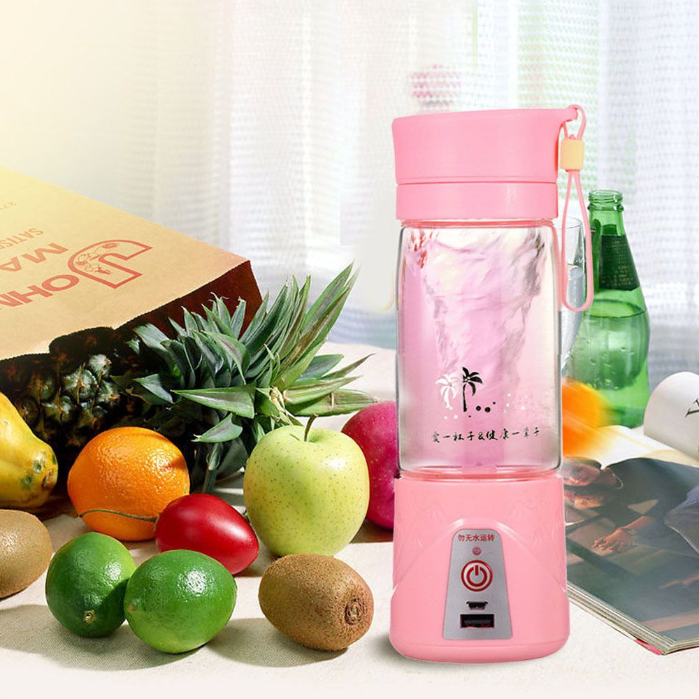 380ML Portable Juicer Cup USB Rechargeable Battery Juice