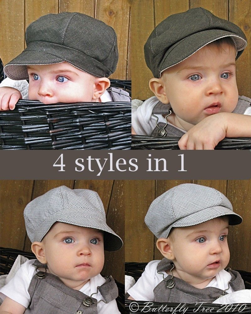 edf9b65d7 Newsboy Hat Sewing Pattern - Reversible Unisex Infant and Child ...