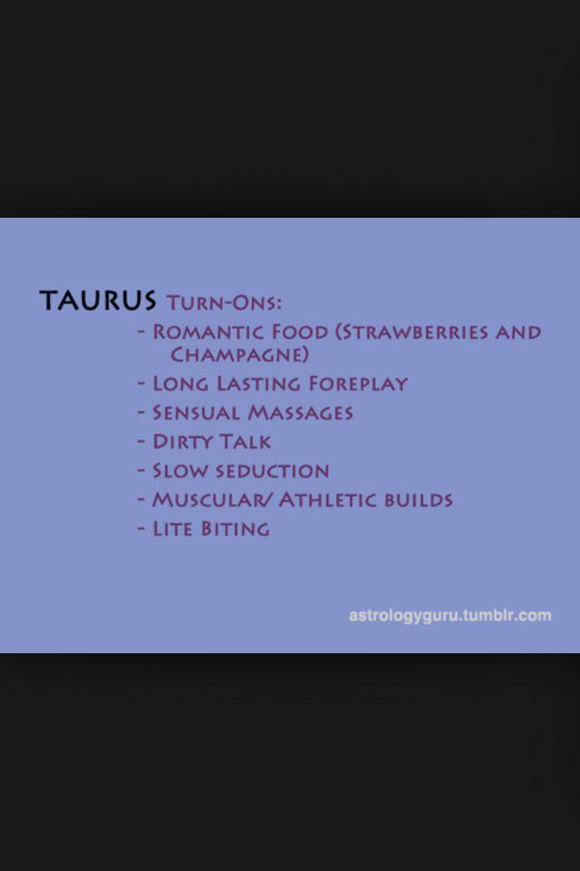 Taurus male turn ons