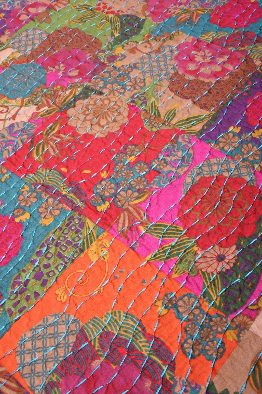 Boho Quilt | ... Boho Cotton Quilt Set reverse Safia Jewel Tone ... : retro quilts - Adamdwight.com