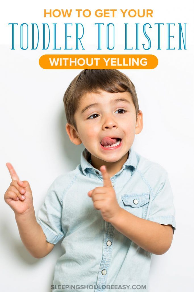 When Yelling Is the Only Way to Get Your Toddler to Listen #discipline